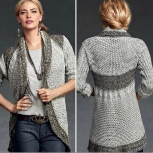 Cabi Knitted Open Front Long Cardigan Size XS